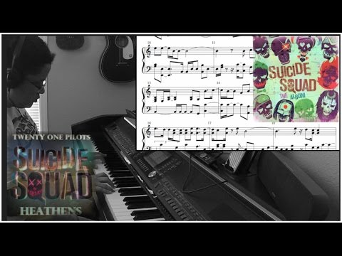 Twenty One Pilots- Heathens from Suicide Squad w/SHEET MUSIC(Piano Cover by Jen Msumba)