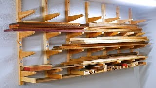 Lumber Rack with Scrap Storage