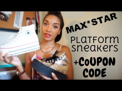MaxStar Platform Sneakers + Coupon Code!