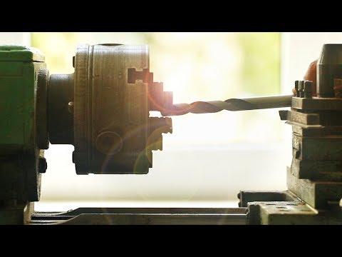 Проточка хвостовика сверла на токарном станке, Decrease Drill Bit Shank On Metal Lathe