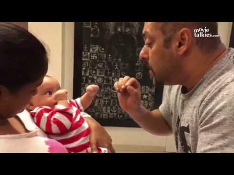 Salman Khan & Sanjay Dutt Playing With Sister Arpita's CUTE Son Aahil