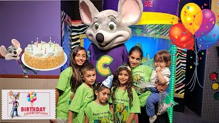 CHUCK E CHEESE BIRTHDAY CELEBRATION! Family Vlogs