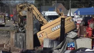 Construction equipment breaks main water line in Virginia Beach