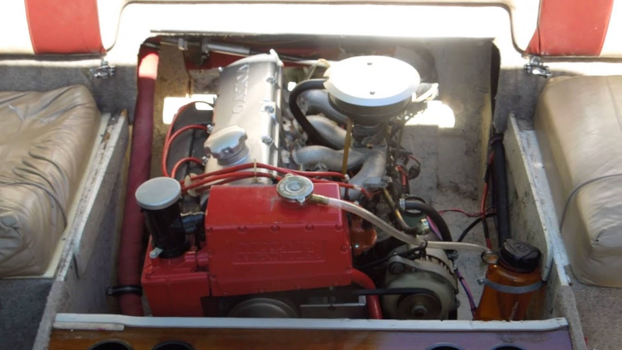 Bayliner Capri startup after dewinterizing Volvo Penta AQ125 engine and 270 outdrive  YouTube