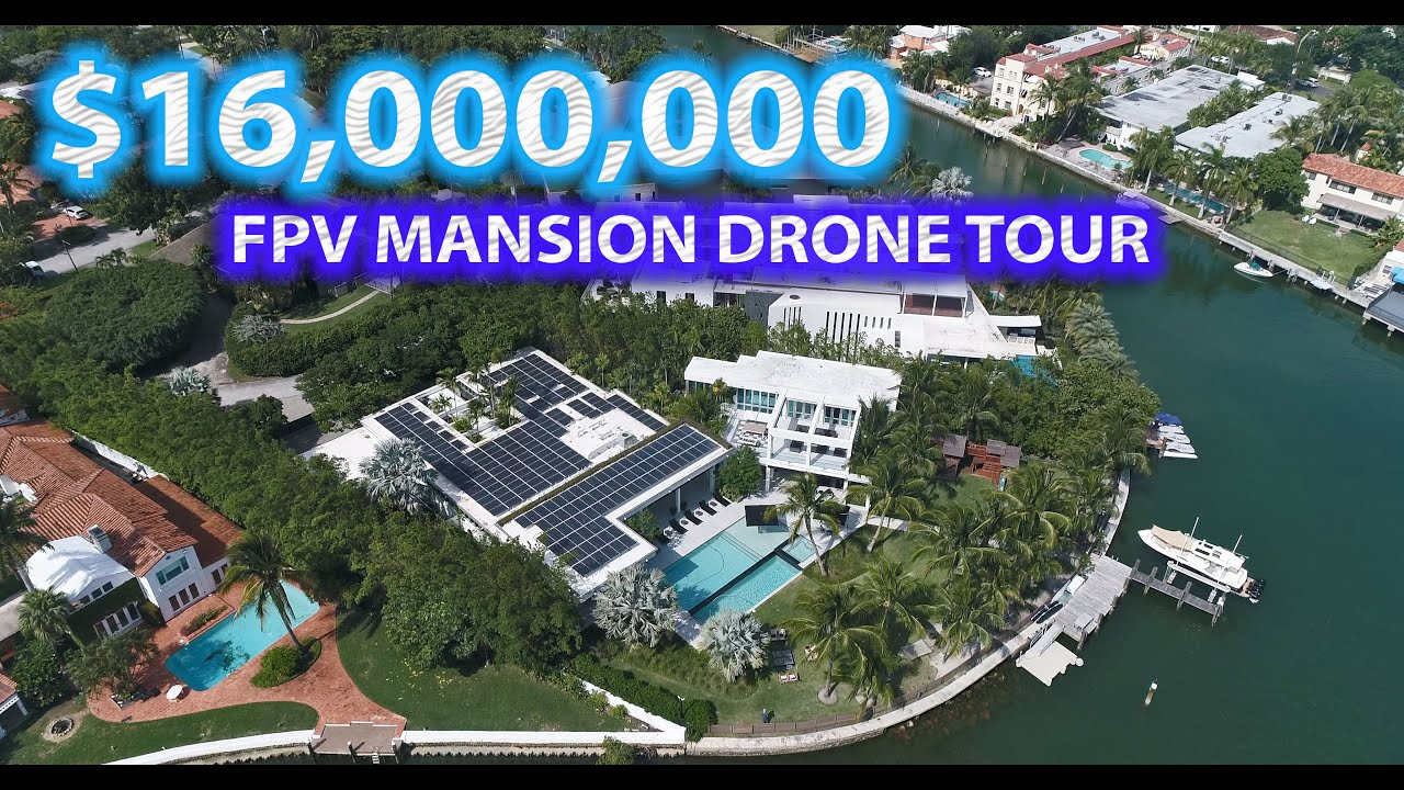 FLYING INSIDE A $16 MILLION MANSION in MIAMI!