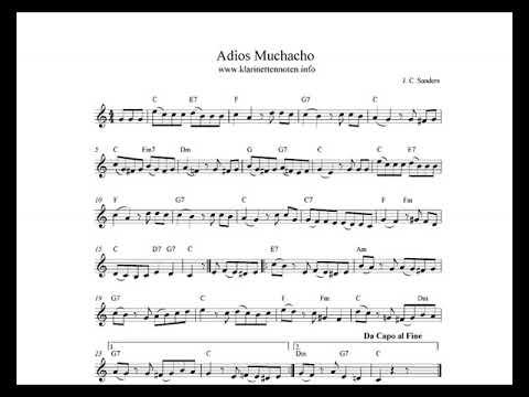 Adios Muchacho   play Clarinet
