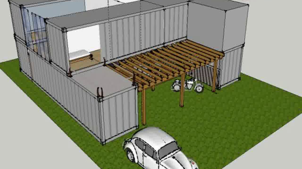 Shipping container home sketchup - Design your own container home or ...