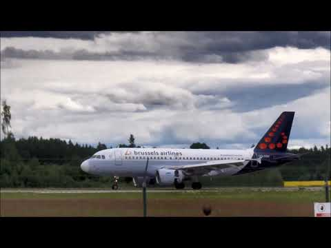 Brussels Airlines A319-112 Landing and takeoff at Tartu airport