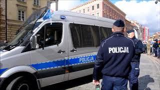 PROTEST SŁUŻB MUNDUROWYCH NSZZ POLICJANTÓW