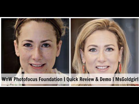 WnW PhotoFocus Foundation | Quick Review & Demo | MsGoldgirl