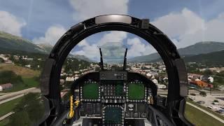 Cockpit F-18 Hornet take off Innsbruck Airport - Aerofly FS 2