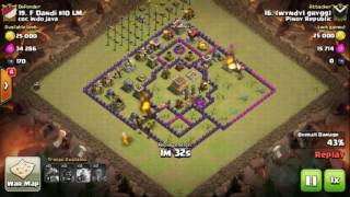 The strongest war base: Base war TH 8 terkuat - Nobember 2016 (replay attack) - tipe 1
