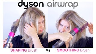 DYSON AIRWRAP Shaping vs Smoothing Brush on Short Hair