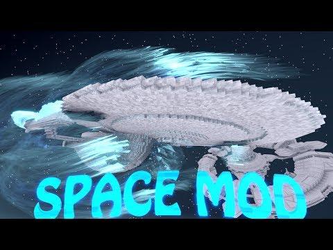 Minecraft | WARP DRIVE SPACE MOD Showcase! (SPACE MOD, HYPERDRIVE, SPACESHIP, PLANETS)