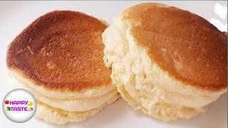 แพนเค้กฟูนุ่มสไตล์ญี่ปุ่นแบบง่ายFluffy Japanese Pancake | happytaste