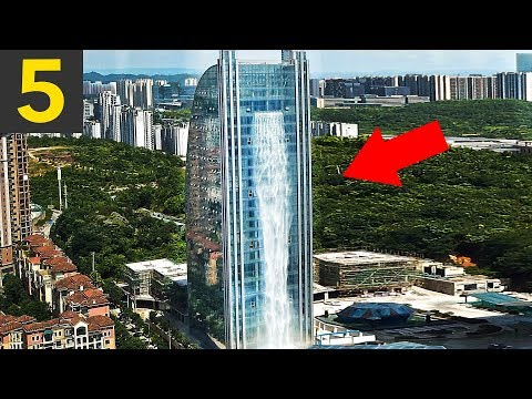 Top 5 MAN MADE Waterfalls & Amazing Water Features
