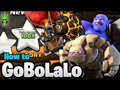 HOW TO USE GOBOLALOON IN WAR! - TH9 GOBOLALO Guide - Clash of Clans - Live War Attacks