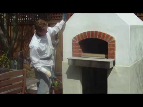 Plastering over durock cement board,  Plastering a pizza oven