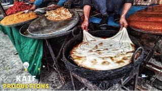 Indian Street Food Famous Kashmiri Paratha.
