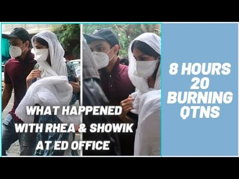 Download 20 Qtns | 8 Hours | What Happened with Rhea & Showik at Enforcement Directorate | Sid Pathani Next