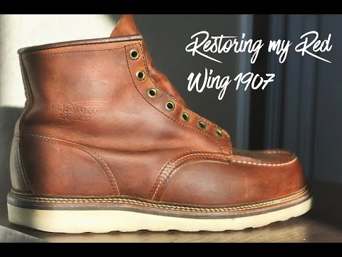 RESTORING MY BOOTS - RED WING 1907's