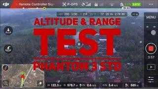 DJI Phantom 3 Standard - Range & Altitude Test (No Modification - Stock Remote & Antenna)