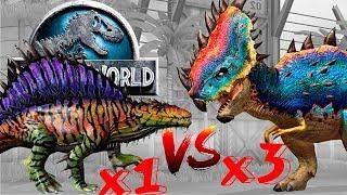 Остапозавр порвал 3 Пахигалозавра!!!  Jurassic World The Game