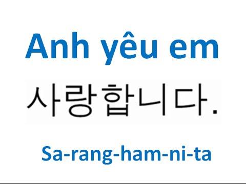 Học tiếng Hàn #16 Anh yêu em