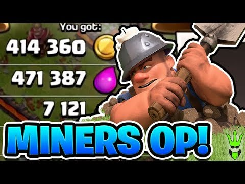 LEVEL 1 MINERS ARE GREAT! - Free to Play TH10 Ep. 7 -