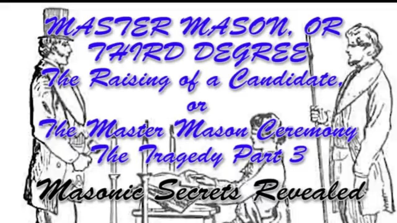 Duncans Masonic Ritual and Monitor Chapter 3 - Master Mason Degree - Part 5  - The Tragedy Part 3