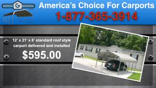 Amherst Steel Carports | Virginia Carport Kits | Metal Garages