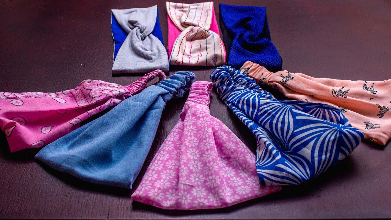 Como hacer 2 diademas,tiaras,turbantes en 25 minutos superfáciles de hacer paso a paso/varias tallas