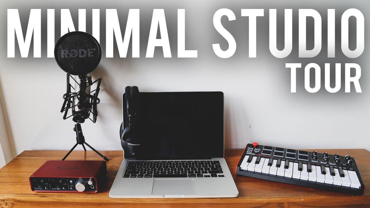 MY MINIMALIST MUSIC PRODUCTION SET UP 20 Home Studio Tour