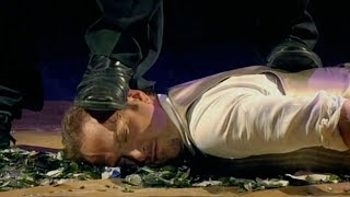 Derren Brown Lays In Broken Glass And Gets Stepped On