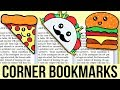 DIY FAST FOOD BOOKMARKS for Back To School   Easy & Cute School Supplies