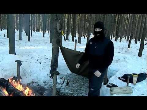 [РВ] Укрытие для ночёвки зимой в лесу