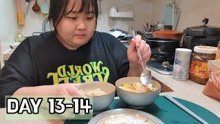 초고도비만 탈출하기 식단 VLOG 된장찌개, 집밥해먹기…