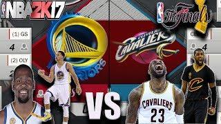 CAVS VS WARRIORS NBA FINALS SIMULATED IN NBA2K17!!!