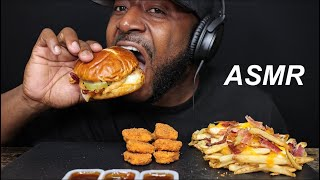 ASMR PRETZEL BACON PUB, BACON PUB FRIES, AND SPICY NUGGETS.  MUKBANG. (NO TALKING) TCASMR