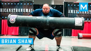 Brian Shaw Strongman Training with World's Strongest Man   Muscle Madness