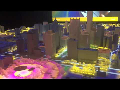 1:50 scale model of Downtown displays future skyline of Detroit