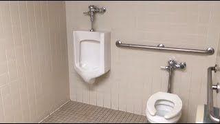 Bathroom tour: 1980s Eljer toilet and Urinal at a Belk store