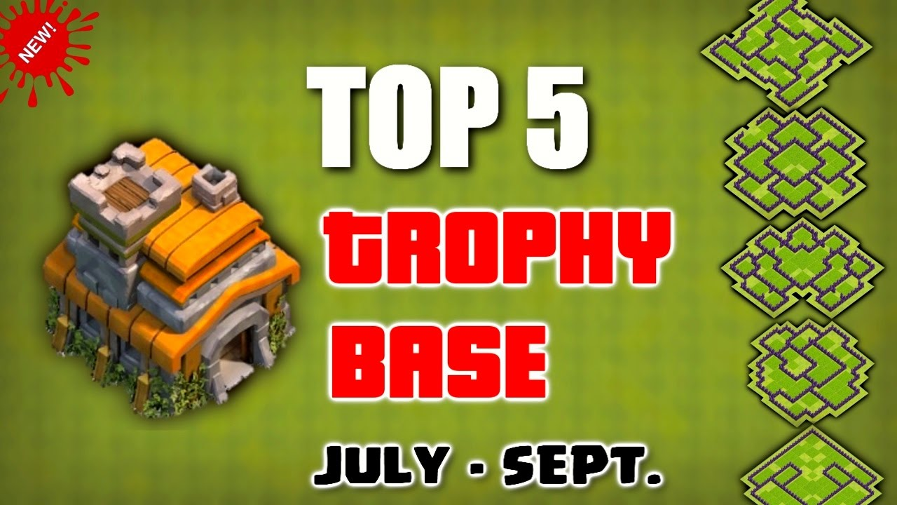 Clash Of Clans Top 5 Th7 Town Hall 7 Trophy Base 2016 Best Trophy Bases Of July September Youtube