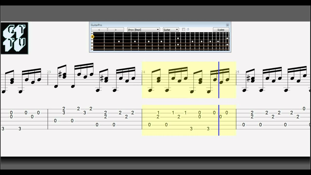how to add tab stave in guitar pro 6