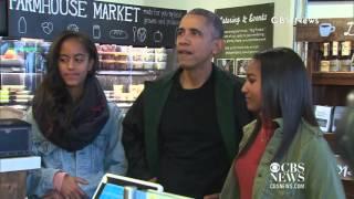 Obama Goes Shopping With Malia & Sasha on Small Business