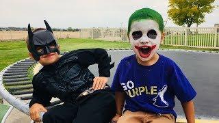 Funny Clown PRANKS Batman! Funny Kids