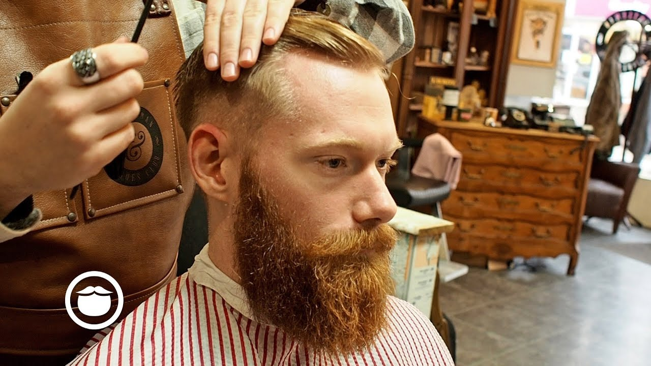 Barber Shows How To Give An Executive Contour Haircut Youtube