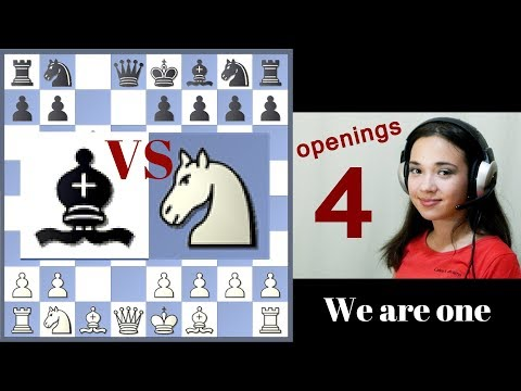 Free Short Chess Lessons 4 - Knight or Bishop in Opening
