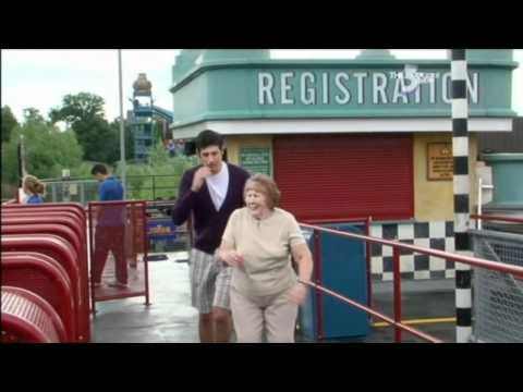Old lady goes on Stealth at Thorpe Park