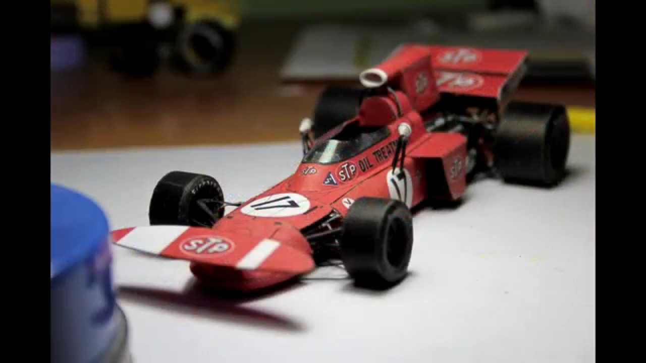 Papercraft Accurate March 711 F1 Paper Model (papercraft) - Making of